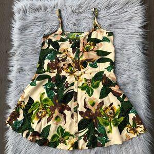 UO Kimchi Blue Tropical Strap Dress